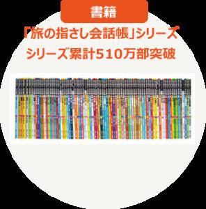 書籍 「旅の指さし会話帳」シリーズ シリーズ累計510万部突破